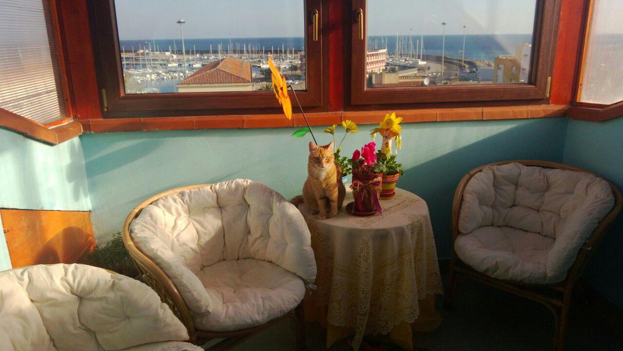 A DUE PASSI DAL MARE graziosa mansardina con splendida vista sul porto.